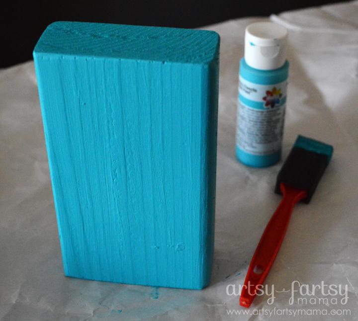 You Are Loved Blocks Delta Ceramcoat Tahiti Blue