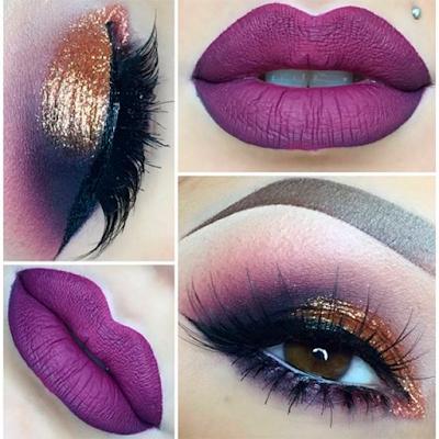Foto 4 maquiagem lilas pele negra