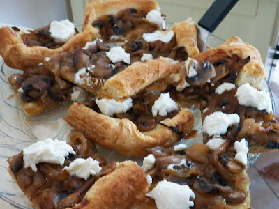 Onion and Mushroom Tart with Goat Cheese
