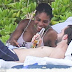 Pregnant Serena William spend some time with her man