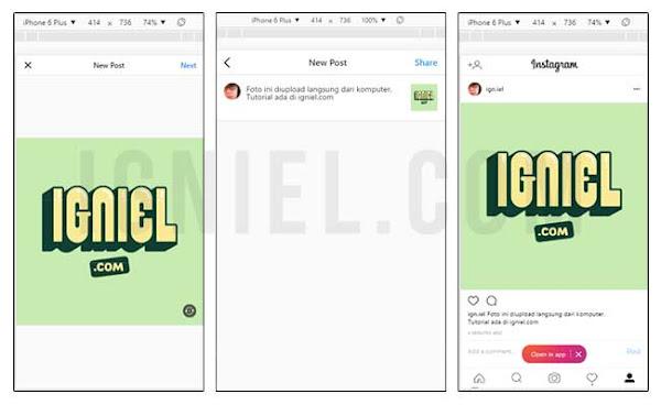 Upload Foto Instagram Lewat PC Tanpa Aplikasi - igniel.com