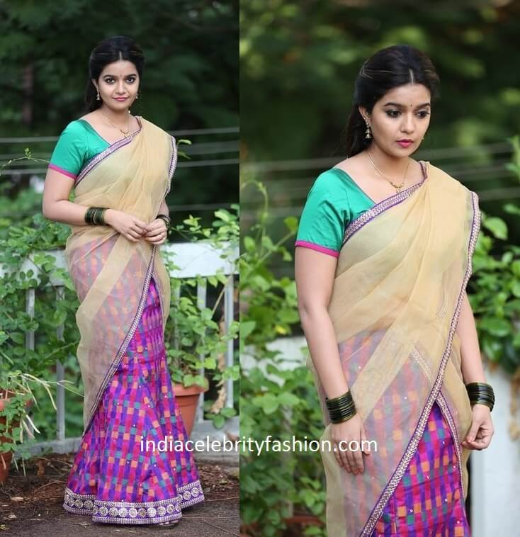 Colors Swathi in Half Saree