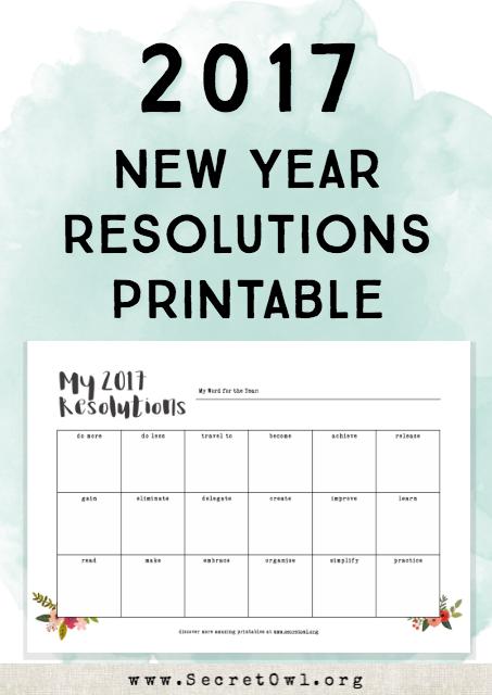 secret owl society printable new years resolution template new year resolution sheets printable