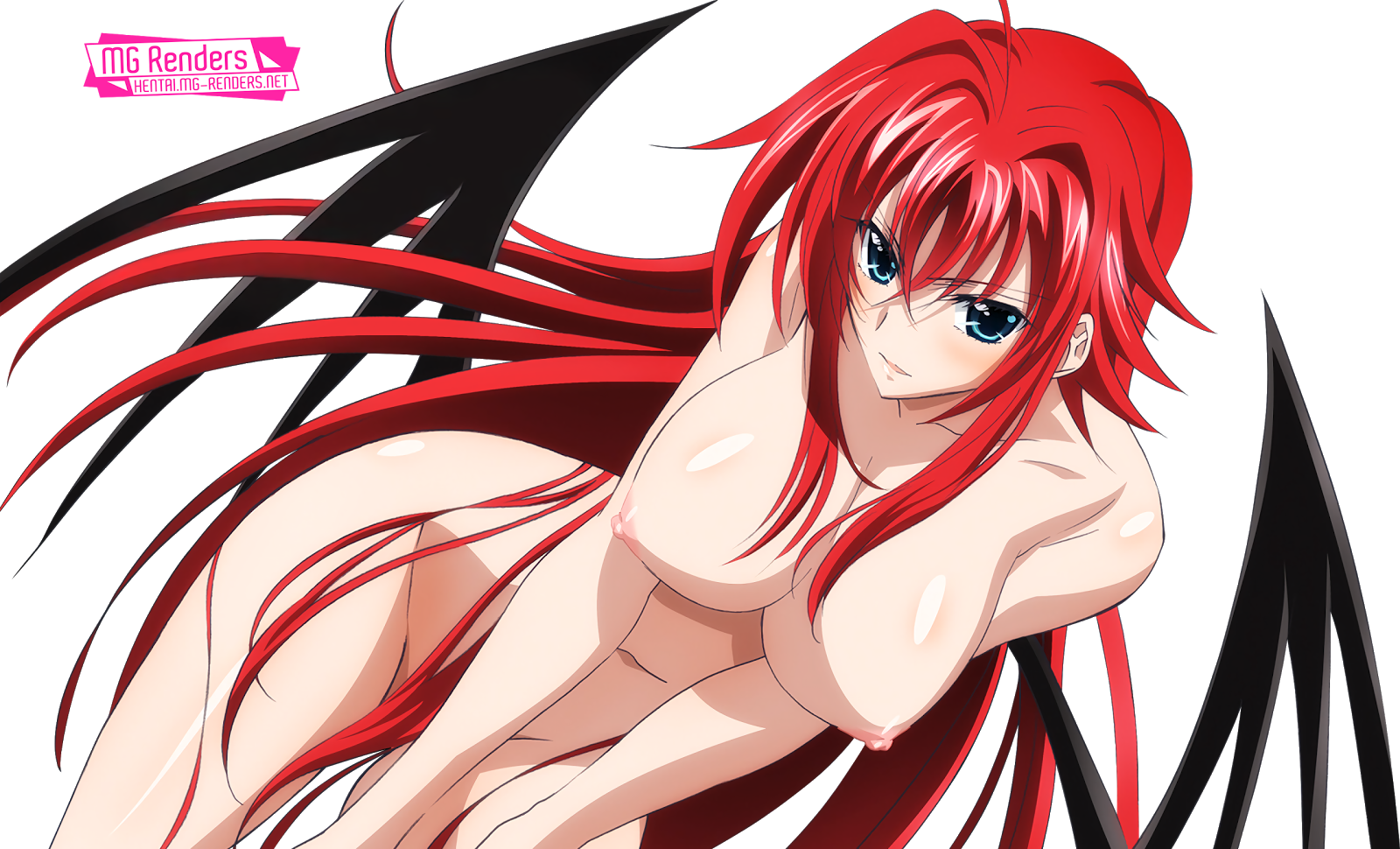 Tags: Anime, Render,  High School DxD, ハイスクールD×D, Haisukūru D×D,  Huge Breasts,  Nipples,  No bra,  No panties,  Rias Gremory, リアス・グレモリー, PNG, Image, Picture