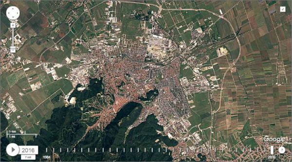 Harta Brasov Satelit Harta