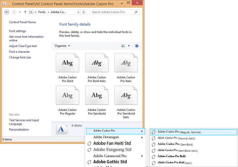 Adobe caslon pro semibold