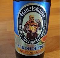 Franziskaner Weissbier alkohlfrei Blutorange - Etikett