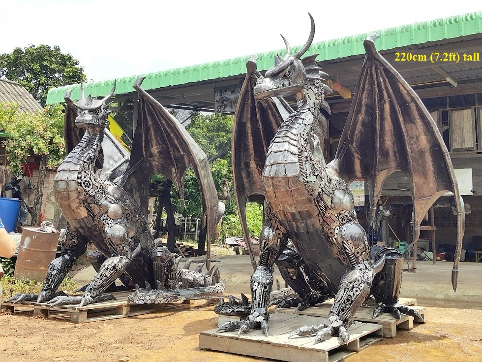 14-Dragons-Namfon-Suktawee-Animals-Art-made-by-Upcycling-Scrap-Metal-in-Thailand-www-designstack-co