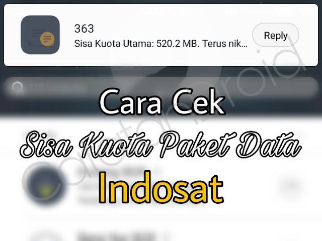 Cara Cek Sisa Kuota Paket Data Internet Indosat Mentari Im3 Tanpa Aplikasi