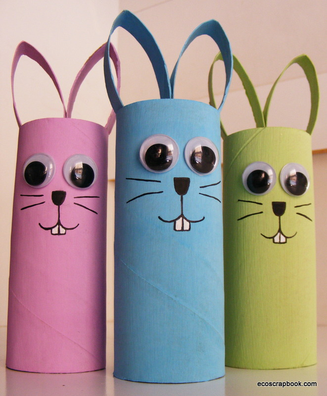 Easter Crafts Made With Toilet Paper Rolls