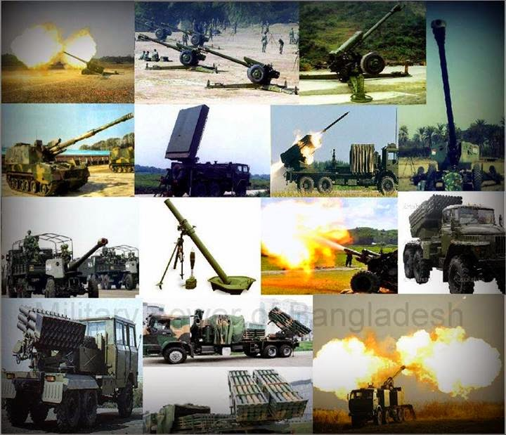 Weapons used by Bangladesh Army