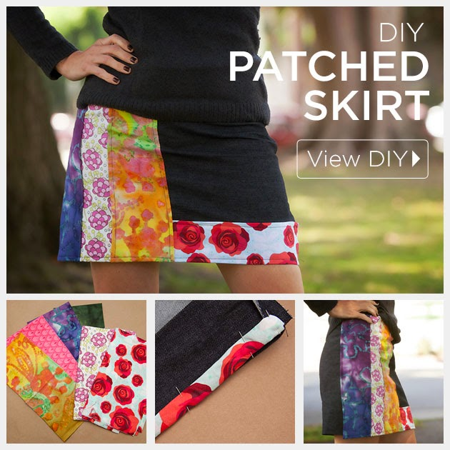 DIY PATCHED SKIRT
