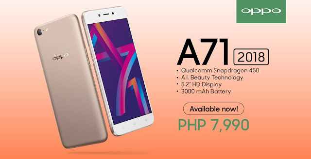 OPPO A71 2018 Specs, Price, Availability Philippines