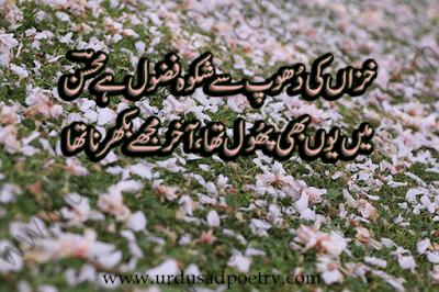Khazan Ki Dhoop Se Shikwa Fazool Hay Muhsin
