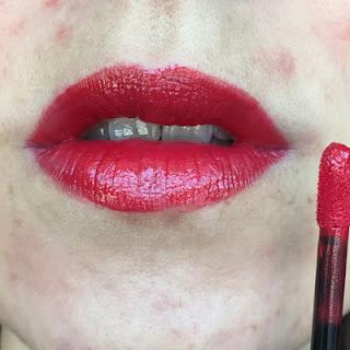 Skinn Cosmetics – Ruby (Caviar Lip Cream) Swatch // Crappy Candle