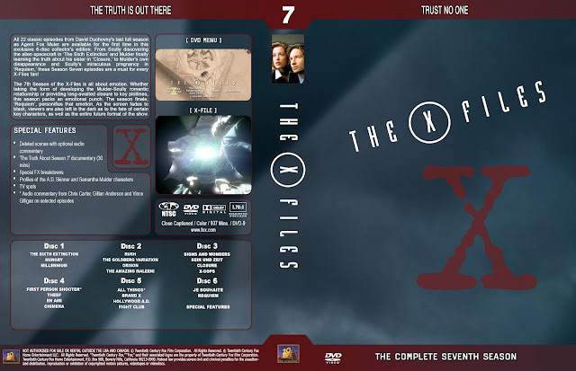 The X Files Season 7 DVD Cover