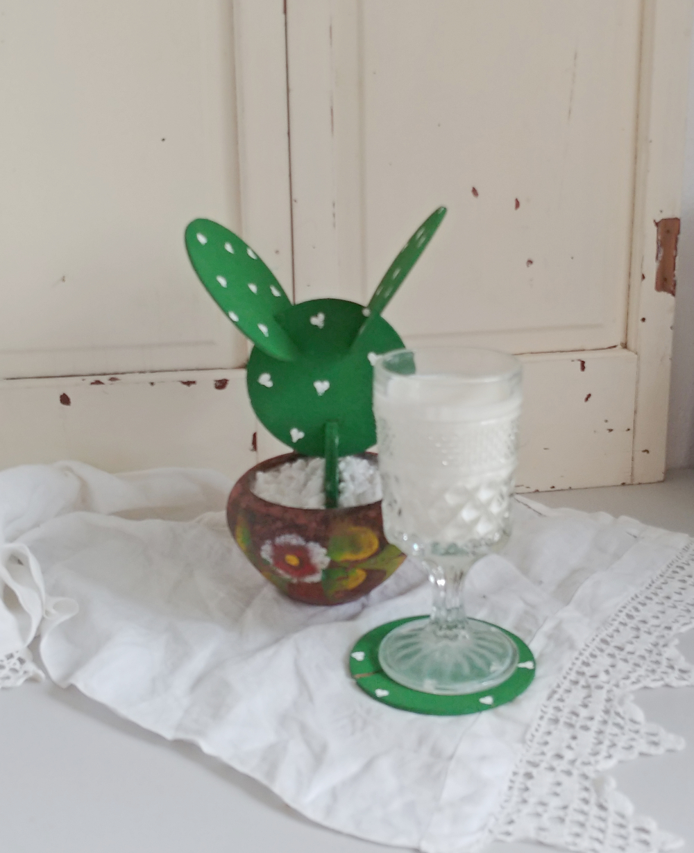 DIY cactus coaster set