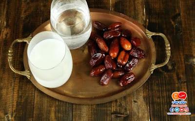 ماهى فوائد الافطار على اللبن والتمر فى رمضان