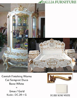 Contoh Furniture Finising Duco Kombinasi Emas