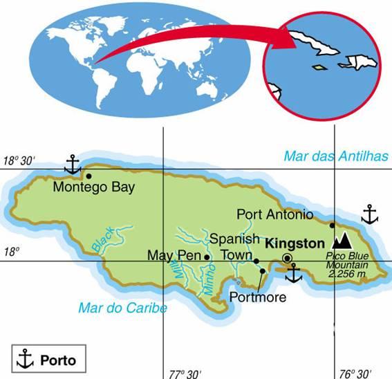 Jamaica, Aspectos Geográficos e Socioeconômicos da Jamaica