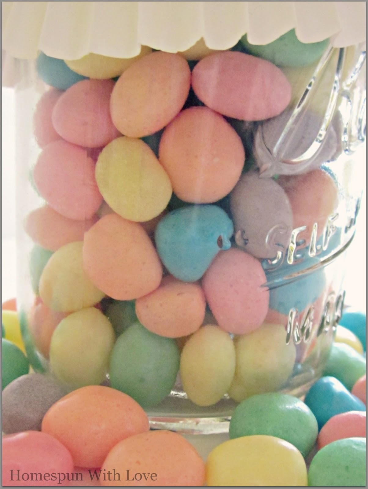 Pastel Candy Makeup Tutorial: Homespun With Love: Pastel Hostess Gift