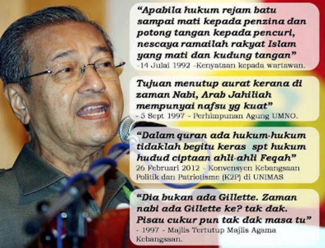 Koleksi Kenyataan Tun Mahathir Menghina Islam