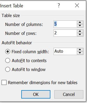 tinhoccoban.net - Hộp hội thoại Insert Table