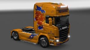Scania Streamline PKM Logistique skin mod