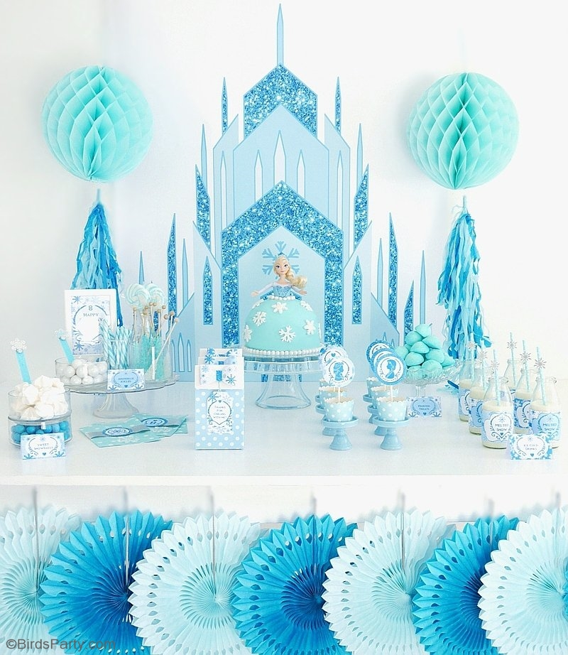 a frozen inspired birthday party party ideas party printables blog