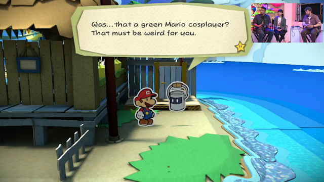 Paper Mario Color Splash Nintendo Wii U Luigi green cosplayer cameo