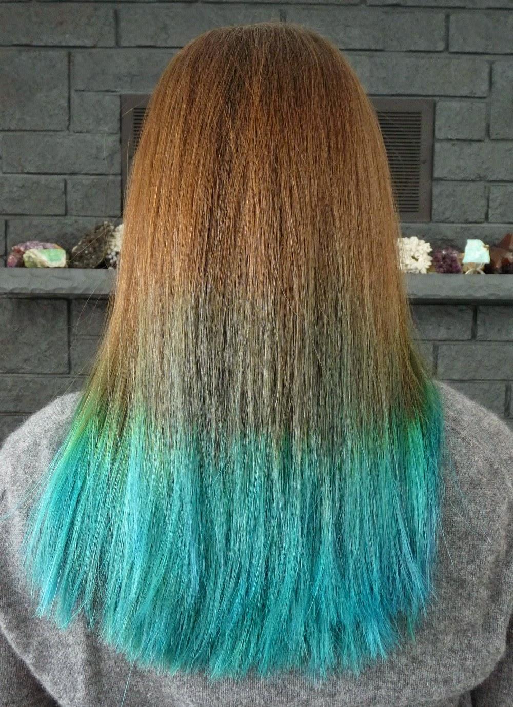 Do You Need to Bleach Hair to Dye it Bright Color? // Aqua Hair Joico Peacock