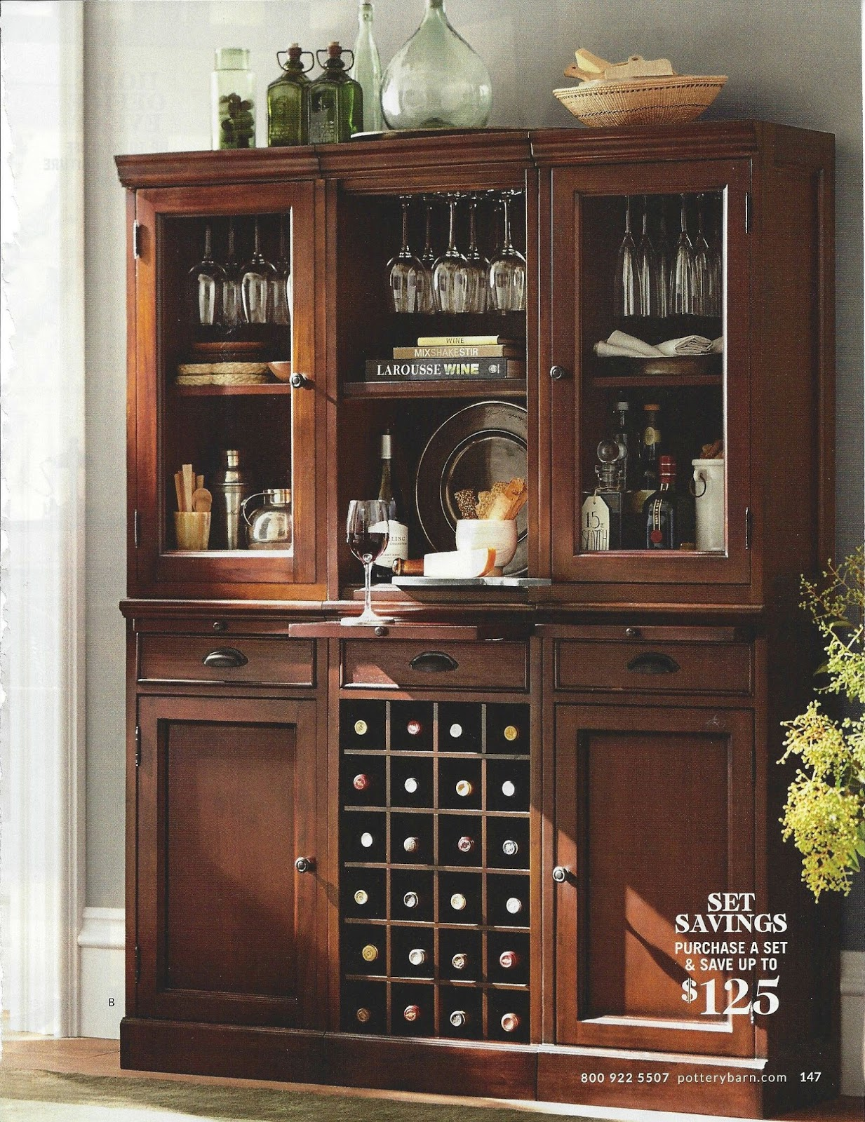 bookcase wine bar