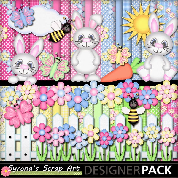 Hoppy Spring Bunny Digital Scrapbook Kits