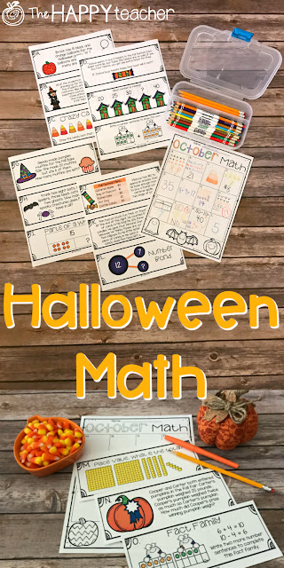 Math activities for Halloween and October