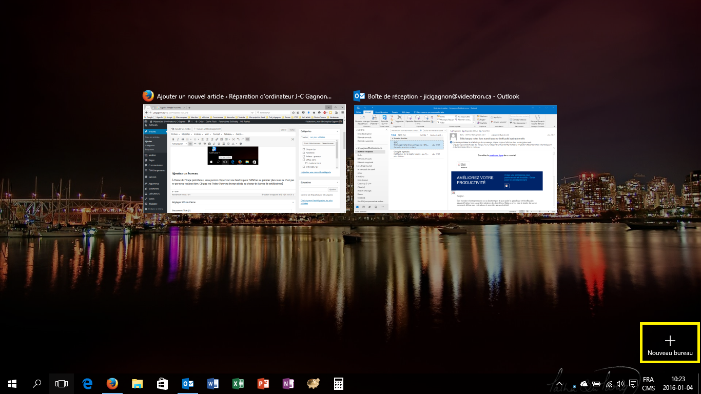 JC Gagnon Blogue Comment utiliser un bureau virtuel Windows 10