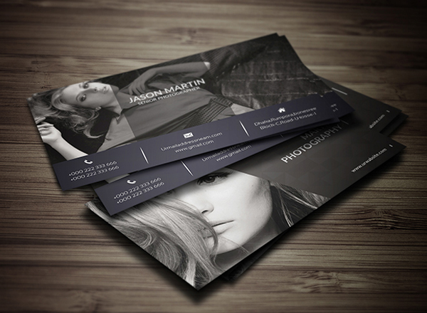 free photography business card design freebies psd