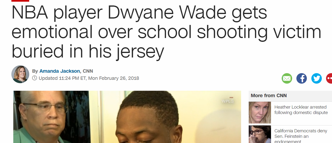 The Mindless Freaks  Dwayne Wade gets emotional over shooting victim ... 322b461a4