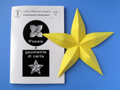 Origami, Booklet QQM 60 and Stella convessa - Convex star © by Francesco Guarnieri