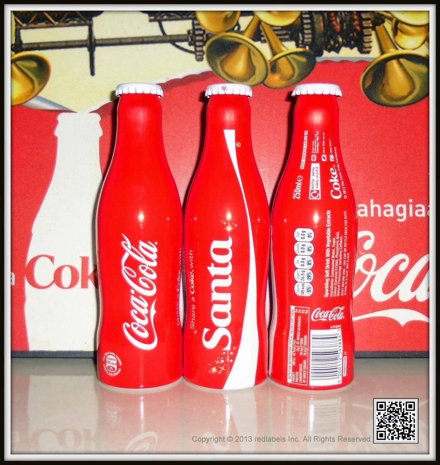 Aluminum Bottle Collector Club: Share a Coke with Santa Christmas Aluminum Bottle 2013 UK