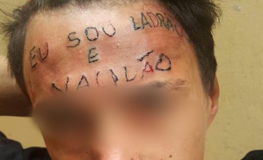 'Tive vontade de morrer, comecei a chorar', diz adolescente tatuado na testa no ABC