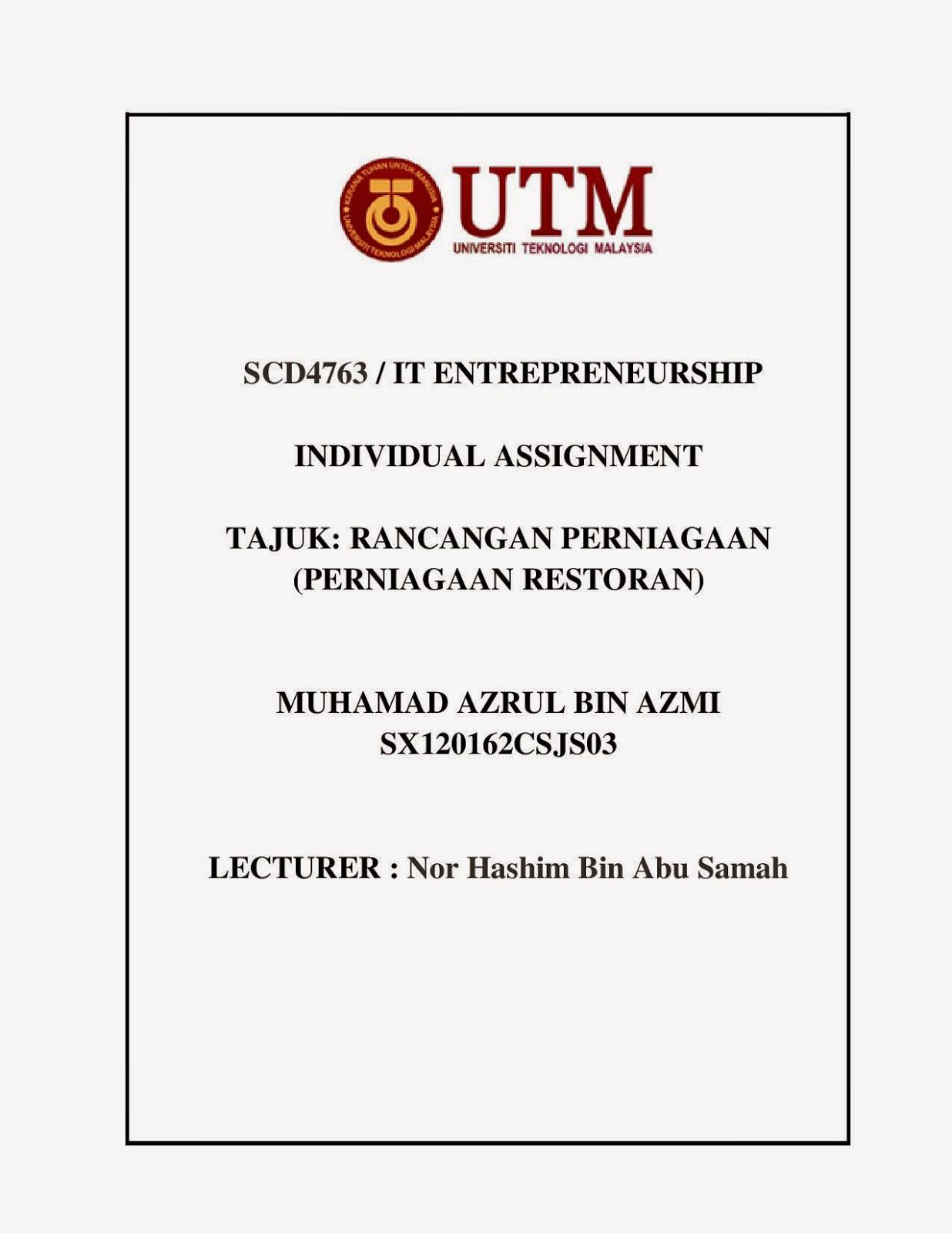 Hi Tech Sat Tv Contoh Rancangan Perniagaan Perniagaan Restoran Oleh Muhammad Azrul Bin Azmi Sx120162csjs03
