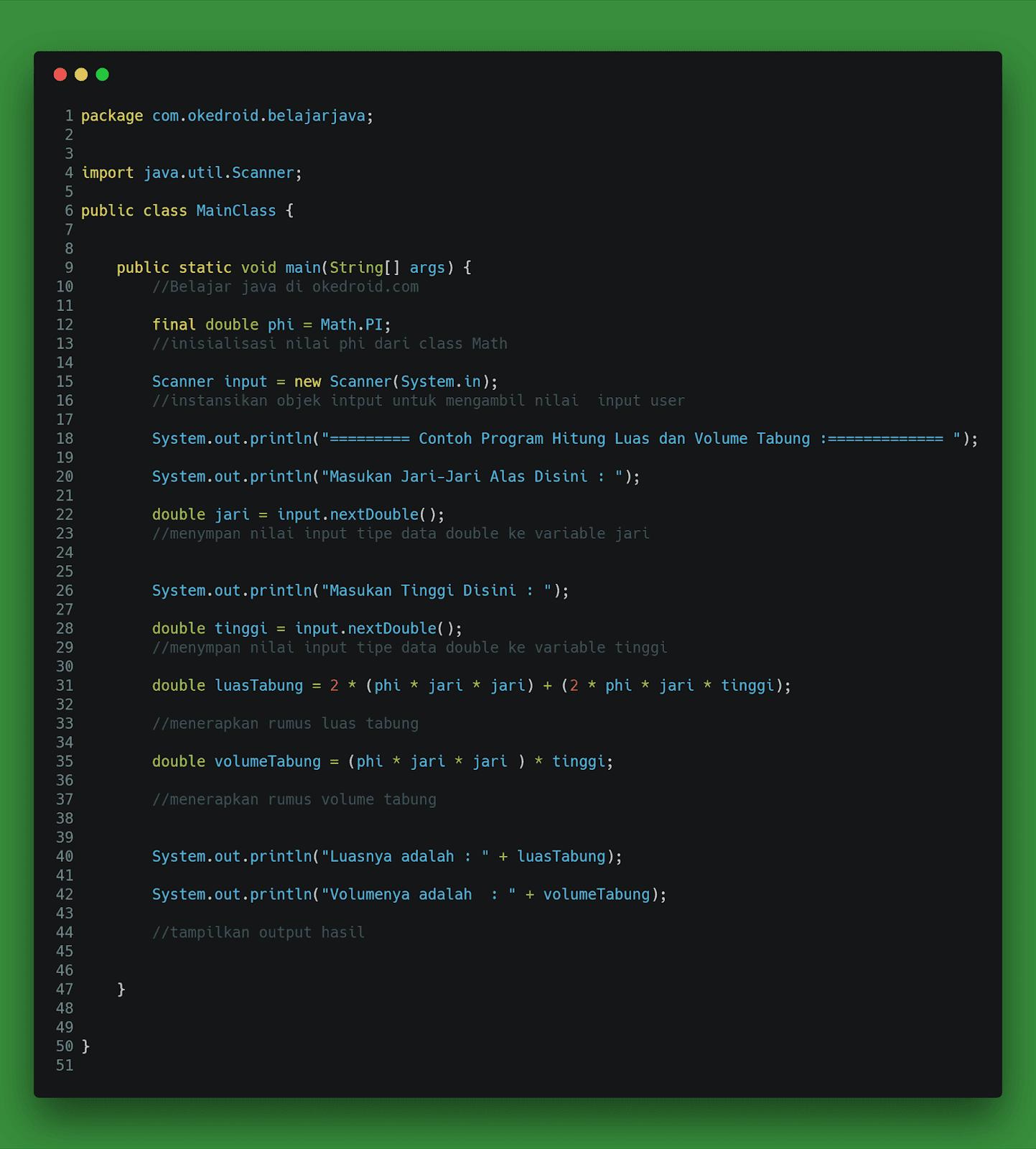 Contoh Code
