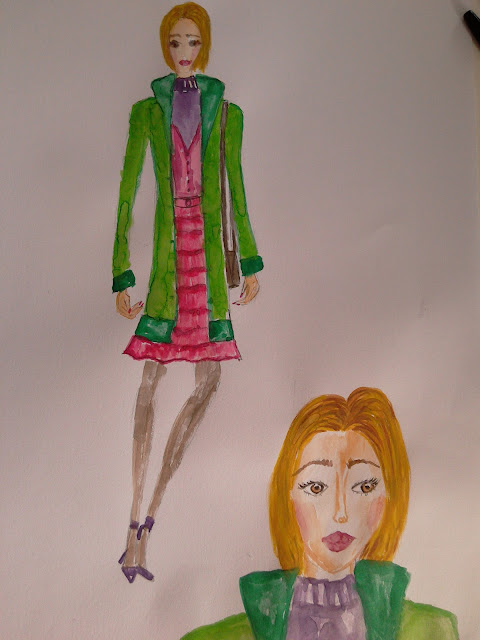 Fashion illustration of the day (trend report: green)