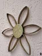 Flor, Flower, rollo de papel higienico, toilet paper roll, reciclaje, recycled
