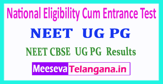 NEET National Eligibility Cum Entrance Test CBSE NEET PG UG Results 2018 Download
