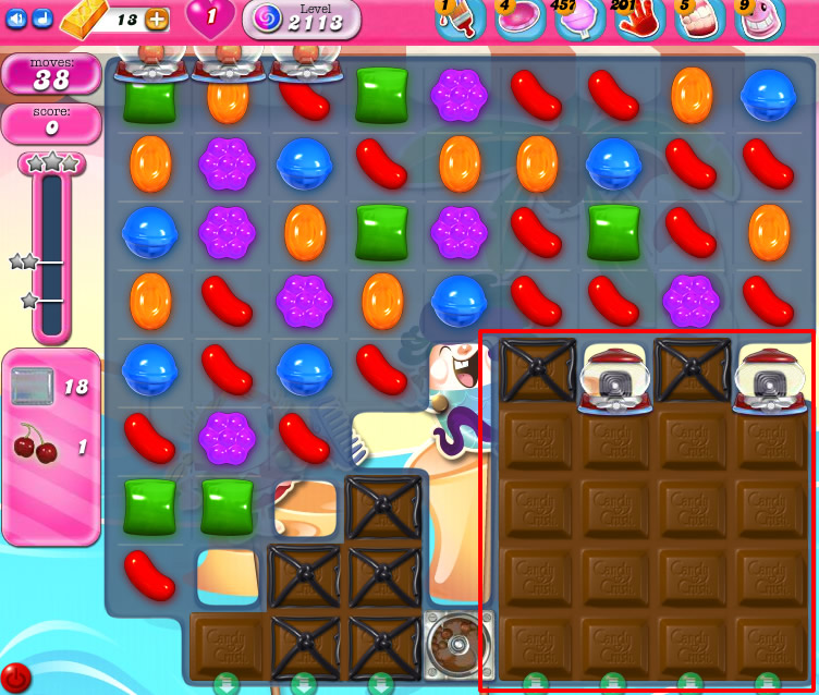 Candy Crush Saga level 2113