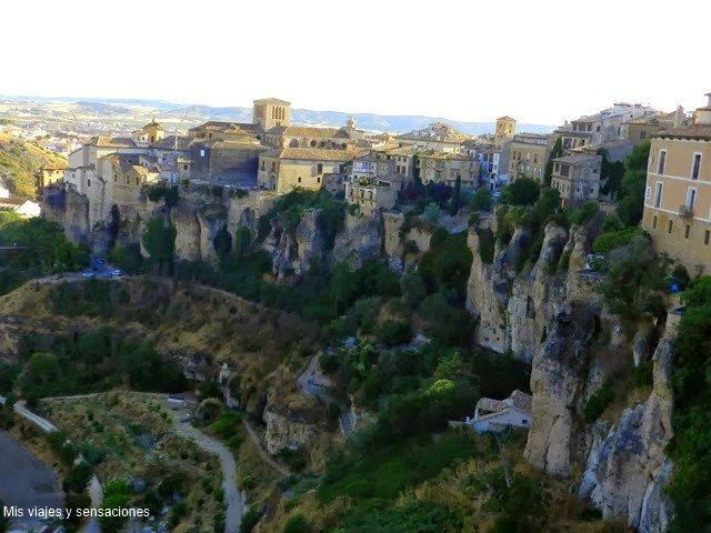 Vistas desde el mirador, Cuenca