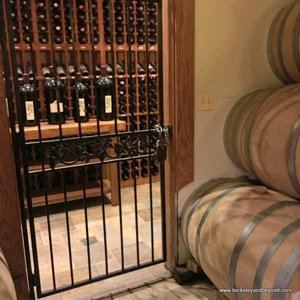 wine storage at Lynfred Winery in Roselle, Illinois