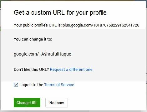 Change GPlus Profile Link