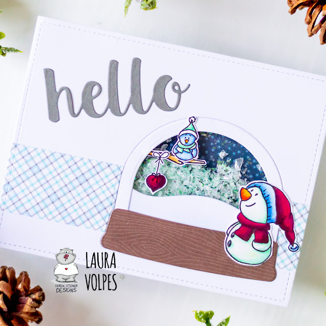Winter Shaker Card feat Gerda Steiner Designs 2